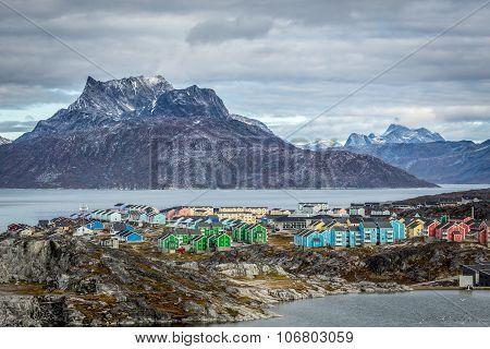 Nuuk city landscape