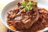 stock photo of beef shank  - Classic osso buco - JPG
