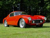 Ferrari 250 GT SWB on a lawn in the sun