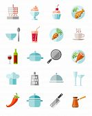Постер, плакат: Kitchen Cooking Color Icons