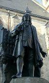 Постер, плакат: Monument Of Johann Sebastian Bach Leipzig