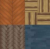 Vector Collection Of Seamless Backgrounds A Wooden Parquet