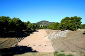 pic of epidavros  - view over the hgistorical stadium of epidavros - JPG