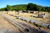 picture of epidavros  - view over the historical site of epidavros - JPG