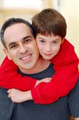 picture of happy family  - portrait of a father with his son - JPG