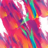 Psychedelic distorted background poster