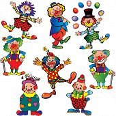 picture of lyre-flower  - Funny clowns - JPG