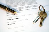image of real-estate agent  - legal document for sale of real estate property in europe - JPG