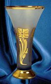 Symbolic Vase For Championship, Achievement And Commemorative. Made Of Sandblasted Matt Glass, Patte poster