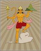 picture of hanuman  - Lord Hanuman Carrying Sanjeevani Mountain - JPG