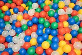 Balls For A Dry Pool Background. Background Of Many Colored Plastic Balls. Baby Delight Bright Color poster