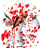 picture of festering  - Zombie nurse that is covered in blood - JPG