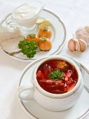 picture of pampushka  - Ukrainian borscht with pampushkas - JPG