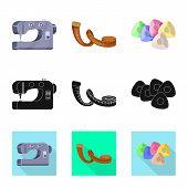 Isolated Object Of Craft And Handcraft Icon. Set Of Craft And Industry Vector Icon For Stock. poster