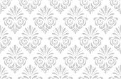 Wallpaper In The Style Of Baroque. Seamless Vector Background. White And Grey Floral Ornament. Graph poster