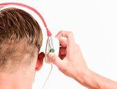 Modern Technology. Buy Music Gadget. Shop Store Musical Accessory Gadgets. Music Taste Concept. Enjo poster