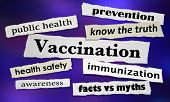 Vaccination Newspaper Headlines Debate Vaccinate Immunization 3d Illustration poster