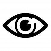 Save Download Preview Eye Icon, Visibility Icon Isolated On White Background. Eye Icon, Visibility I poster