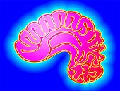 stock photo of temporal lobe  - Illustration of human brain in blue background - JPG