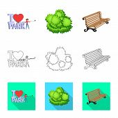 Vector Design Of Urban And Street Icon. Set Of Urban And Relaxation Vector Icon For Stock. poster