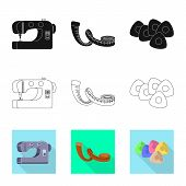 Isolated Object Of Craft And Handcraft Symbol. Collection Of Craft And Industry Stock Symbol For Web poster