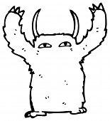 furry man cartoon poster