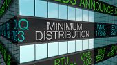 Minimum Distribution Stock Market Investment 401K Payout 3d Illustration poster