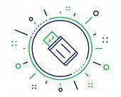 Usb Flash Drive Line Icon. Memory Stick Sign. Portable Data Storage Symbol. Quality Design Elements. poster