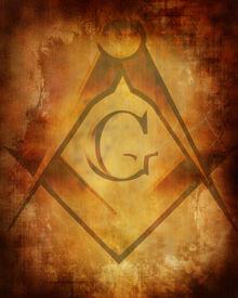 stock photo of freemasons  - Old paper texture with freemason symbol on it - JPG