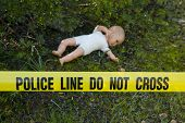 picture of pedophilia  - Crime scene in the forest - JPG