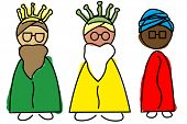 picture of melchior  - an illustration of the Three Wise Men - JPG