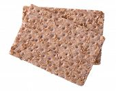 pic of wasa bread  - Close up of a crispbread with sesame seeds isolated on white selective focus - JPG