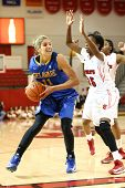 JAMAICA, NY-JAN 2: Delaware Blue Hens guard Elena Delle Donne (11) looks to shoot around St. John's