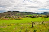 stock photo of apennines  - Small City on the Slopes of the Apennines Italy - JPG