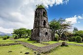 pic of luzon  - Cagsawa Ruins are the remnants of an 18th century Franciscan church built in 1724 and destroyed by the 1814 eruption of the Mayon Volcano - JPG