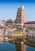 pic of vijayanagara  - Virupaksha hindu temple and ruins Hampi India - JPG