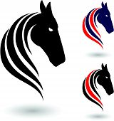 stock photo of thoroughbred  - Horse symbol - JPG