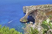 stock photo of grotto  - Die Blaue Grotte auf Malta, The Blue Grotto In Malta