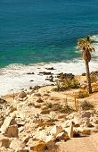 stock photo of cortez  - Rocky coastline and beach in Cabo San Lucas Mexico - JPG