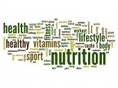 foto of physique  - High resolution concept or conceptual abstract nutrition word cloud or wordcloud on white background - JPG