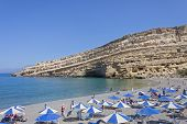 foto of hippy  - Matala beach in Crete - JPG