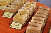 image of soapy  - Bars of soap handmade natural products for skin care - JPG