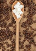 Wooden Spoon With  Lump Sugar
