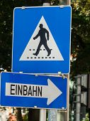 stock photo of pedestrian crossing  - a pedestrian crossing  - JPG