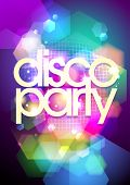 picture of club party  - Disco party design on a bokeh background - JPG