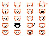 simple cat faces