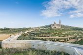 stock photo of gozo  - The National Shrine of the Blessed Virgin of Ta - JPG