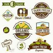 image of food label  - Set of farm fresh - JPG