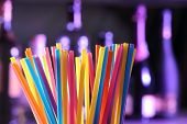 Drinking Straws On A Bar