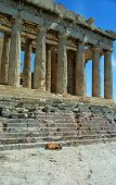 Parthenon building, Athenian Acropolis, Athens, Greece.